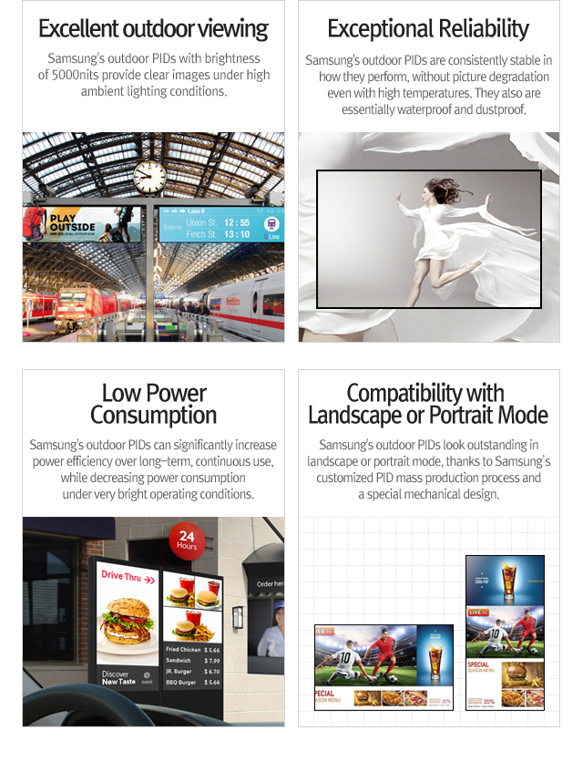 Public Information Display(PID) - Products   Samsung Display